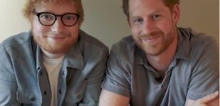 «Как будто смотрюсь в зеркало»: Эд Ширан пришел в гости к принцу Гарри