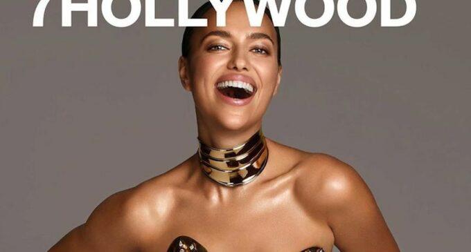 Мода и стиль. Ирина Шейк в металлическом корсете снялась для журнала 7Hollywood