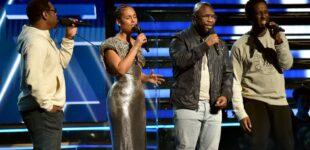 Alicia Keys и BoyzIIMen исполнили трибьют Kobe Bryant на Грэмми