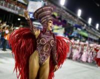 """Карнавал, Бразилия. Школа Самбы """"Вирадуру"""" (""""Viradouro"""") стала победителем карнавала в Рио"""