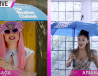 Новинки мировой музыки. Леди Гага и Ариана Гранде в роли ведущих прогноза погоды
