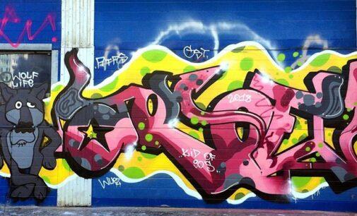 Современное искусство. Известный художник Aroe показал новые граффити