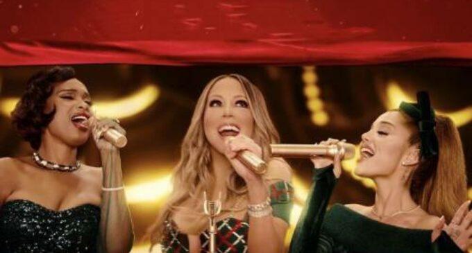 Новости музыки. Мэрайя Кэри, Ариана Гранде и Дженнифер Хадсон выпустили рождественский клип