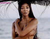 Мода и стиль. Наоми Кэмпбэлл снялась с обнаженной грудью для обложки журнала