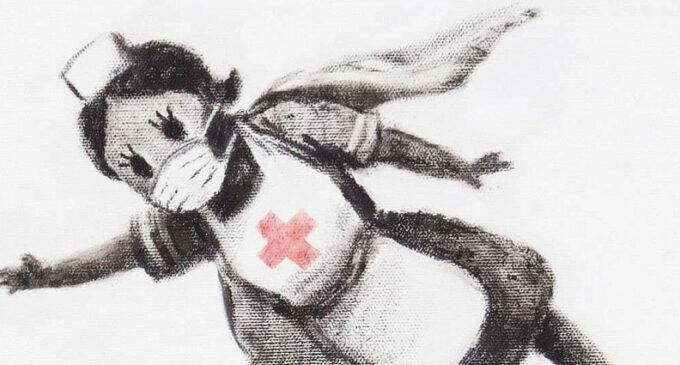 Современное искусство. Работу Бэнкси о медсестре-супергероине продали на аукционе за рекордную сумму