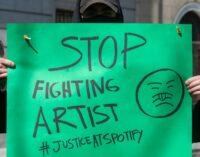 Последние музыкальные новости. Музыканты организуют акции протеста перед офисами Spotify по всему миру.