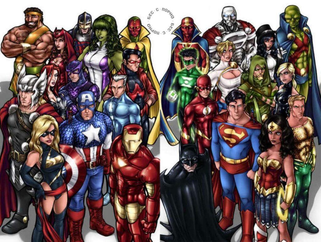 Супергерои Marvel популярнее персонажей DC