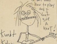 Новости шоубизнеса. Автопортрет Курта Кобейна продали на аукционе за 281 тыс. долларов