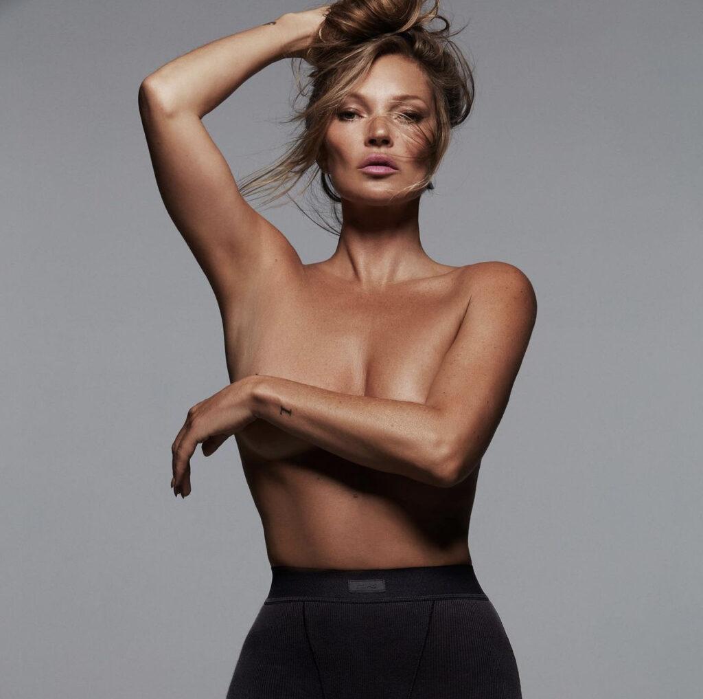 Кейт Мосс – новое лицо бренда нижнего белья Ким Кардашьян