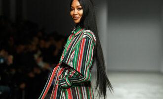Модная индустрия. Наоми Кэмпбелл позирует на ночном Бродвее в новой кампании Michael Kors Collection