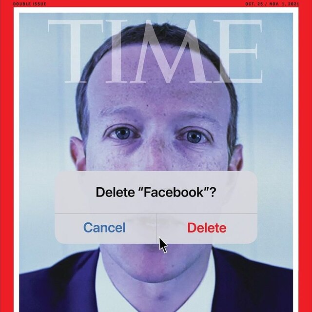 Time поместил на обложку портрет Марка Цукерберга с предложением удалить Facebook