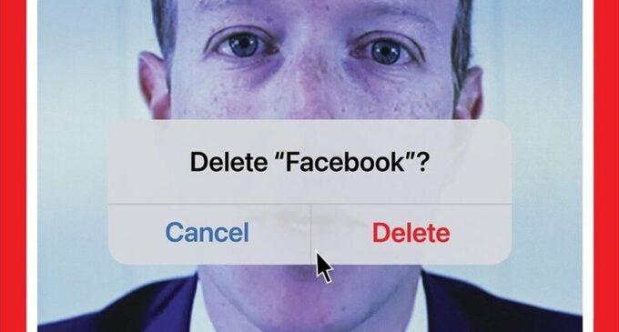 Про новости. Time поместил на обложку портрет Марка Цукерберга с предложением удалить Facebook